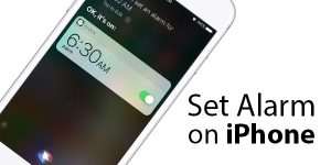 Set Alarm for 6AM on iPhone (No Hands)